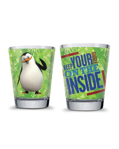 Dreamworks - Set 2 bicchieri acqua pinguini verde