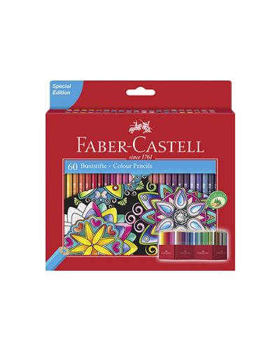 Astuccio in cartone con 60 matite colorate Eco