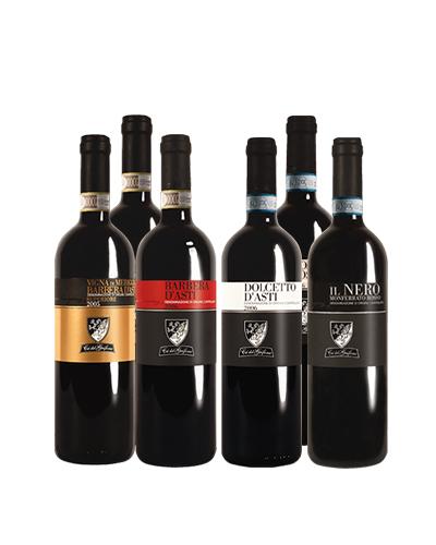 6 bottiglie `Gran Selezione Rossi Terra d`Asti